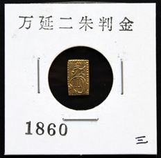 Japan - 2 Shu (Ban Kin) 1860 (Man'en era) - Gold
