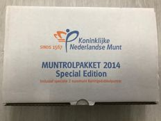 The Netherlands - Coin roll package - 2014 - Special edition with king's double portrait.