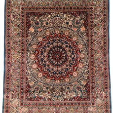Very Fine Quality 843 KPSI Hand Knotted Silk on Silk Chinese Carpet Area Rug 60 cm x 47 cm