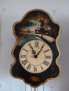 Wooden wall clock - 70 to 80 years