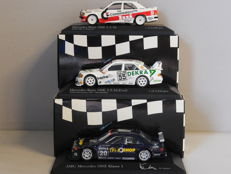 Minichamps - Scale 1/43 - Lot with 3 x Mercedes-Benz 190E DTM
