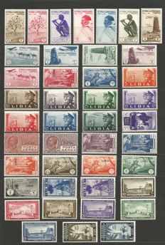 Former Italian Colonies, Libya and Italian Islands, selection of interesting series of stamps,