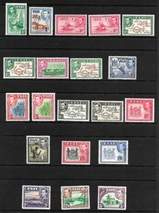 Fiji 1938 - set complete to 5/-, including Dies I and II, Stanley Gibbons 249/266