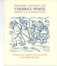 Luxembourg 1944/1971 – collection on LINDNER sheets in dossier