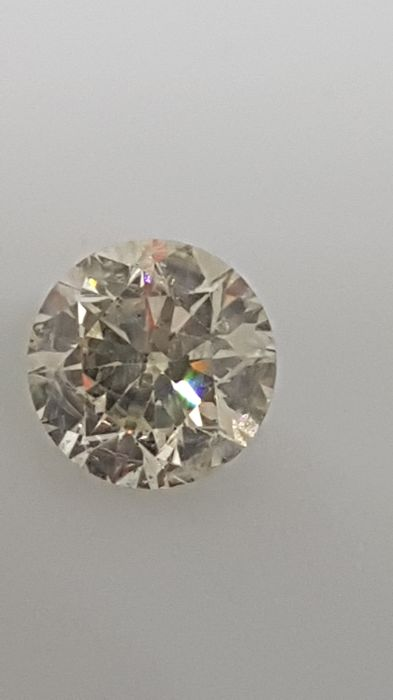 1.02 ct - Round Brilliant - White - H / SI2