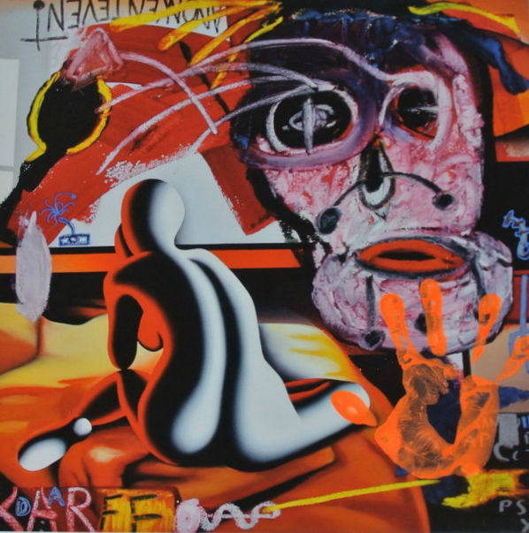 Mark Kostabi and Paul Kostabi - Reflections in an orange Eye