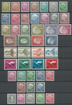 Federal Republic of Germany 1954/1956 – Selection between Michel 177 and 285