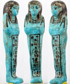 Rare blue faience Ramose - ca. 14,0 cm c. 5,51 inches