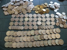 Italy, Kingdom and Republic – Lot of 90 coins – Silver + other metals