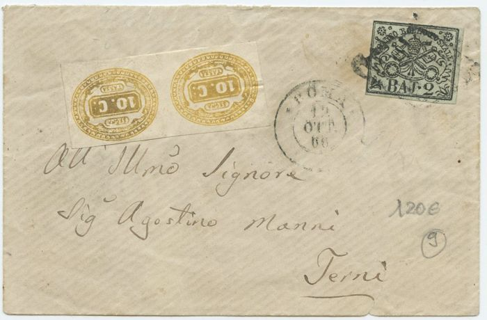 Historic States of Italy   Papal State   Lot of 7 letters   Catawiki