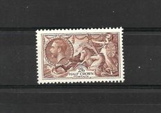 Great Britain 1934 - King George Vth, Stanley Gibbons 450, 2/6d. Seahorse, Chocolate brown