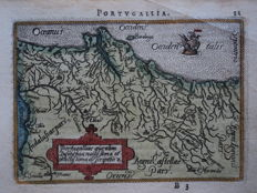 Portugal; A. Ortelius / Ph. Galle - Portugalliae que olim (...) - 1588