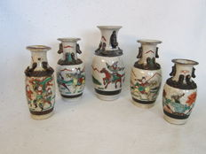 Porcelain Nanking vases – China –  first half / mid 20th century