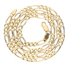 14 kt yellow gold Figaro link necklace – Length 51.1 cm