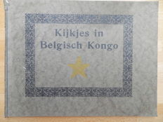 Lot  with three books about Belgian Congo 1920 / 1950