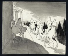 Cuvelier, Paul - Original illustration - Free work with a classical theme - [1950s]