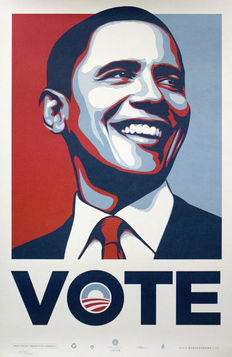 Shepard Fairey - Obama VOTE - 2008