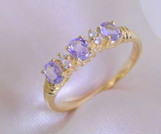 Tanzanite diamond ring 585 gold 