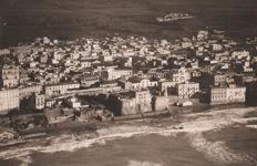 Year 1925 - view of Nettuno - Rome from an airship