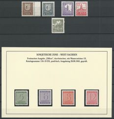 Geallieerde bezetting en DDR 1946 - Michel 150x, 151x, 153x, 155x, 10, 116/119DX