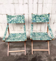 Pair of folding chairs, Laura Ashley, 1960s