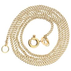 14 kt – Yellow gold curb link necklace – Length: 37.8 cm