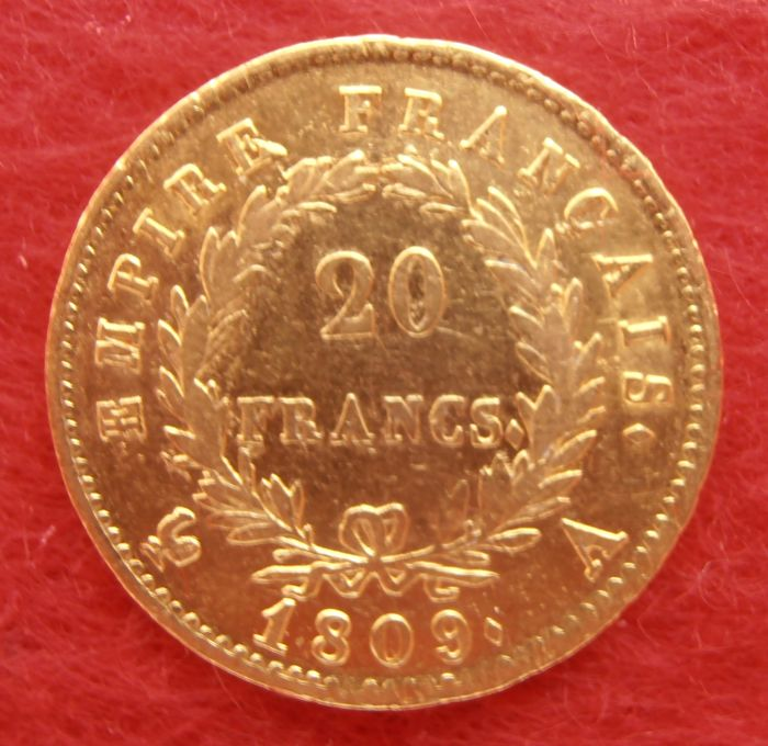France – 20 Francs 1809 A (Paris) Napoleon I – gold