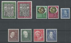 Federal Republic of Germany 1950 – Marienkirche, NBA and Prosperity – Michel 139/147