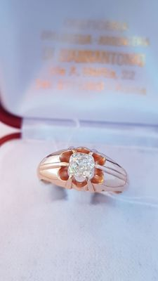 Certified-18ct-Yellow -Gold-Diamond-Solitaire-ring-0,64 ct