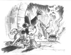 Fernandez, Tony - Original Drawing #8 - Mickey Mouse - The Sorcerer's Apprentice
