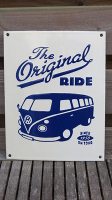 Emaille bord VW bus