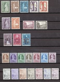Belgium – 1928–1933 – Lot of series – Yvert No. 258/66, 305/7, 326/32, 377/83