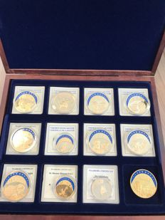 Europe – Lot of 12 ECU's – Gilded