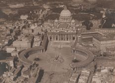 Year 1925 - St. Peter's Basilica - Rome - photographed from an airship
