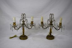 A pair of candelabras - Italy, ca. 1900