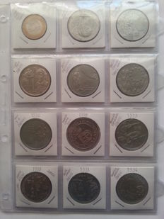 Portugal - Complete Collection of 45 Commemorative Coins of 200 Escudos 1991 to 2000