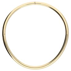 18 kt – Yellow gold torc necklace fitted with bolt clasp – Diameter:  13.7 cm