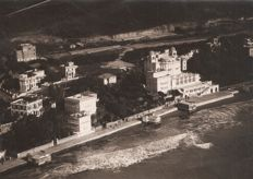 Year 1925 - Casino Palace never opened because of opposition from the Vatican seen from an airship