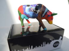 Cow Parade - Cowparade - Bearden Bovine- medium - porcelain