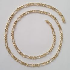 Figaro type chain necklace in 18 kt yellow gold – Length: 60 cm
