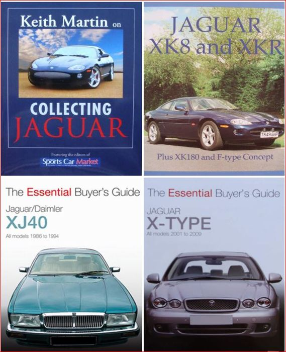 4 Books : Collecting Jaguar  +  Jaguar XK8 and XKR  +  Jaguar XJ40  +  Jaguar X-Type