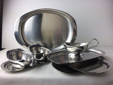 Carlo Mazzeri & Anselmo Vitale for Alessi – lot with various dishes and bowls