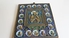 A large bronze and enamelled icon - Russia - 20th-21th century- no reserve price