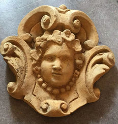 A plaster garden ornament in Baroque style, second half 20th century