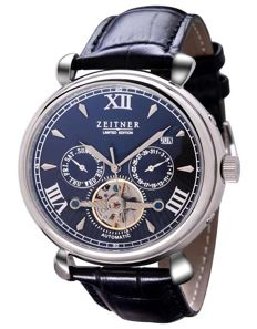 Zeitner - Men - Auto Date Black Steel - 2017