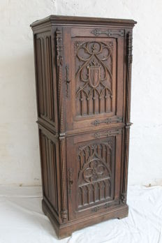 Neo-gothic Tall Cabinet - France - 19th century