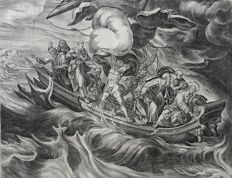 Harmen Jansz Muller (ca. 1539–1617) published by Nicolaes Visscher - The miracle of Christ on the sea of Galilee - 1585
