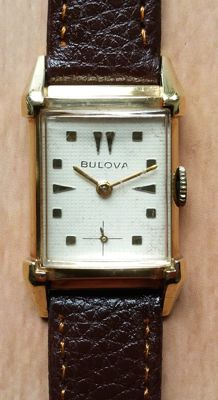 "Bulova ""Tank"" dress watch, 10 kt gold-plated vintage watch, 1940s"
