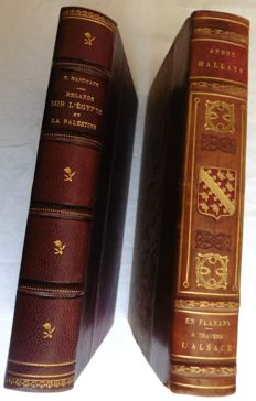 Lot of 2 books on Egypt and Palestine & Alsace - 1920/1929