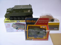 Dinky Toys - Scale 1/43 - Shadow 2 Mobile - No.353, Ferret armoured card - No.680 & Amrmoured patrol car - No.667